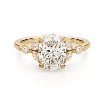 LARA 6 marquise diamonds Golden Engagement Rings in Sydney