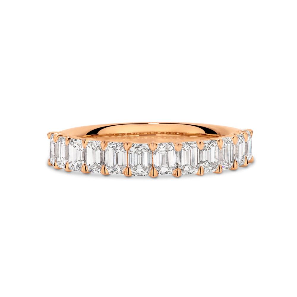 NAOMI Rose Gold Diamond Wedding Ring in Sydney